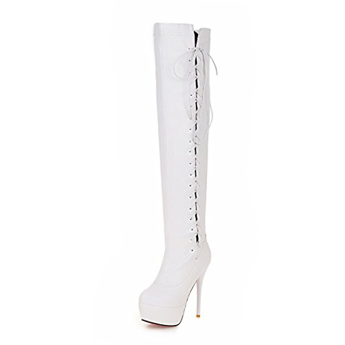 Fashion HeelOver-the-knee Boots - Botas mujer blanco