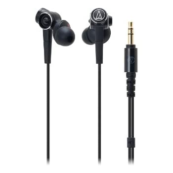 Audio-Technica ATH-CKS1000 Solid Bass In-Ear Headphone w Microphone (Black)