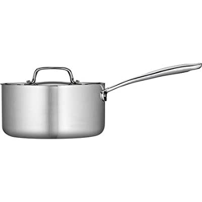 Tramontina 3-Qt Tri-Ply Clad Sauce Pan with Lid, Stainless Steel