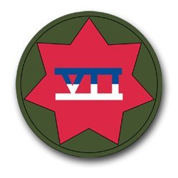 """United States Army 7th US Army Corps Patch Decal Sticker 3.8"""""""