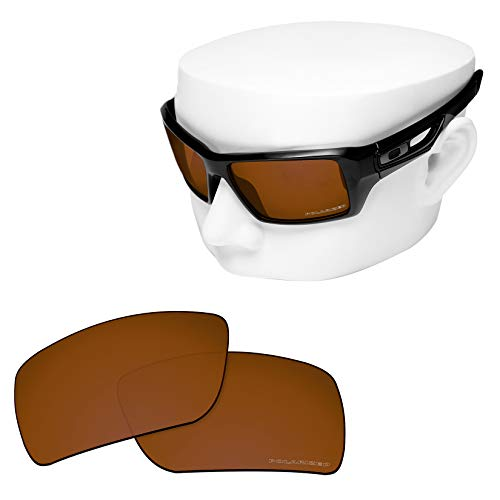 Shield Brown Lens - OOWLIT Replacement Sunglass Lenses for Oakley Eyepatch 2 Brown Polycarbonate Combine8 Polarized