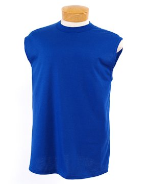(Jerzees Adult 5.6 Ounce 100% Cotton Sleeveless T-shirt in True Royal - XX-Large)