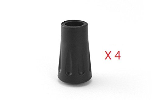 hikehobby Spare Replacement Walking Stick Trekking Hiking Pole Rubber Ferrule Ends 4 Pack