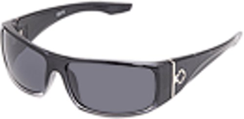Spy Optic Cooper Wrap Sunglasses,Black Fade Frame/Grey Lens,one size