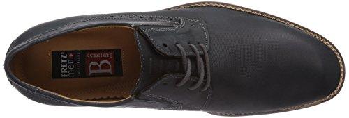 FRETZ men Tosco - zapatos con cordones de cuero hombre negro - Schwarz (51 noir)