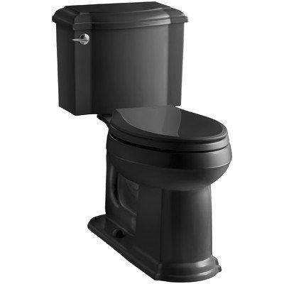 Two Toilets Piece Devonshire (Devonshire Comfort Height Two Piece Elongated Toilet Finish: Black Black)
