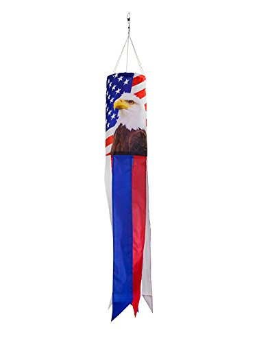 Windsock Eagle (In the Breeze 5053 Patriot Eagle Windsock Hanging Décor, 30-Inches)