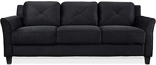 Best living room sofa: BOWERY HILL Microfiber Sofa Couch