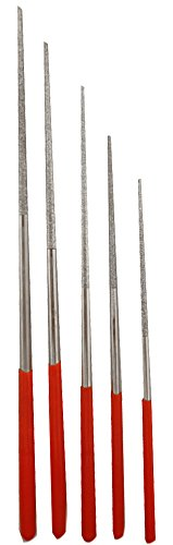 5 Piece Set of Graduated-Size Diamond Files: Sizes: 3/32 Inches - 1/8 Inches