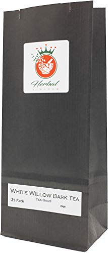 (White Willow Bark Pure Herbal Tea Bags (25 pack - unbleached) )