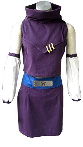 Vorwind Naruto Cosplay Costume Yamanaka Ino Purple Pullover Size X-Large Plus -