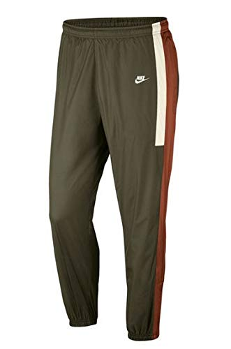 (Nike Men's Sportswear Woven Trousers Pants Olive, Russet & SAIL Size XXL)