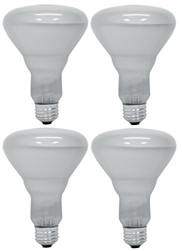 4 GE Long Life Soft White Indoor Floodlights, 45 Watt, 330 Lumens, R30 Shape Medium Base (4 Bulbs) (R30 Floodlight Indoor)