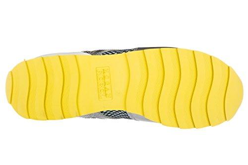 Hogan Rebel scarpe sneakers donna in pelle rebel r261 allacciato bianco