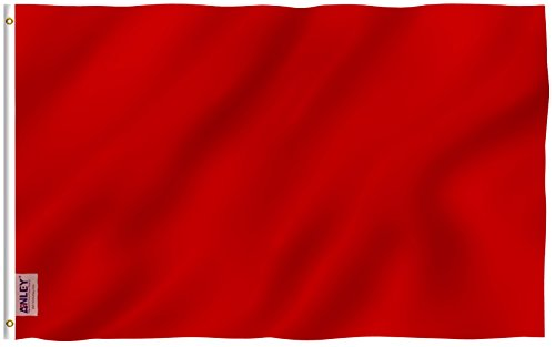 Anley Fly Breeze 3x5 Foot Solid Red Flag - Vivid Color and U