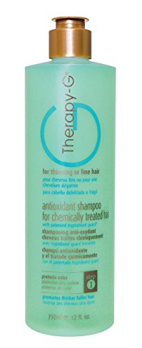 Therapy-G Antioxidant Shampoo For Chemically Treated Hair . For thinning, fine hair and anti hair loss. Hair regrowth and color protector 350ml 12 oz
