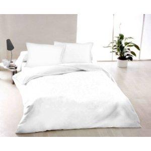 Plain White Reversable King Size Bed Duvet Cover Set Bedding Set