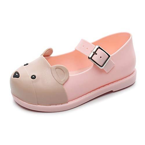 Price comparison product image Leisuraly Kids Boys Girls Bear Cartoon Clogs Cute Lightweight Summer Slippers Garden Beach Sandals Pink