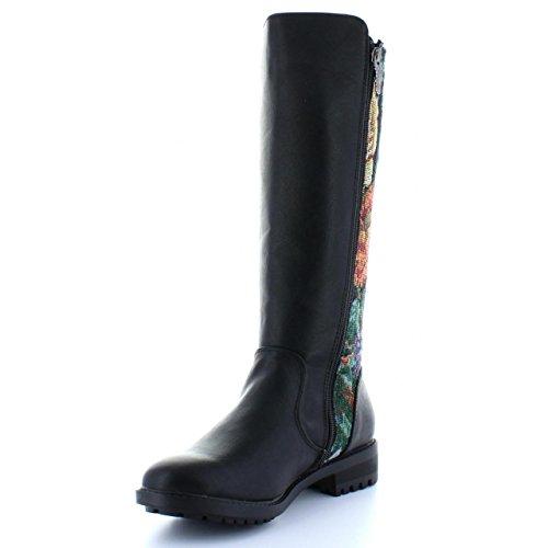 Boots für Damen REFRESH 61187 COMBINADO NEGRO Schuhgröße 37