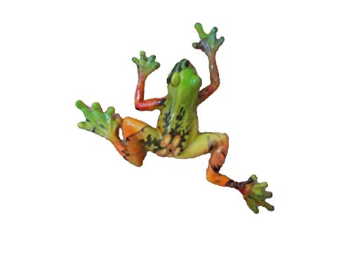 - ECO-Trendz Talavera Style Glossy Shiny Polystone Frog Orange Green Yellow Wall or Table Figure Figurine