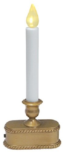Sylvania V1533-88 9'', 1 Light, Gold, Operated LED Sensor Candle / Candolier - Quantity 18