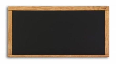Composition Chalkboard in Black w Oak Wood Trim (33.5 in. x 45.5 ()