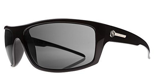 Electric Visual Tech One Gloss ES11601620 Rectangular Sunglasses,Gloss Black,66 - One Electric Tech Sunglasses