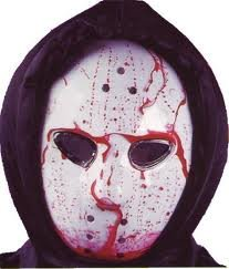 Hockey Mask - Dripping Bloody Bleeding Halloween -