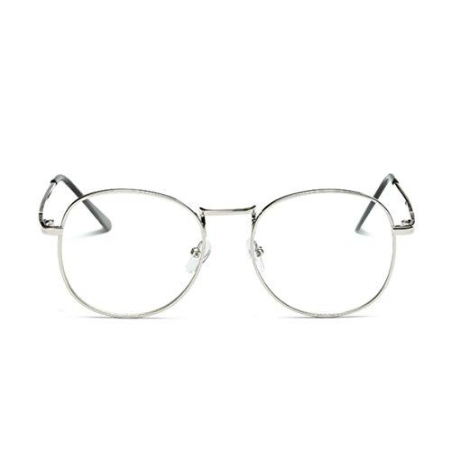 rétro résine rond Yefree myopie Argent femmes lunettes lunettes Hommes et plein lentilles en cadre de qCwRpICf