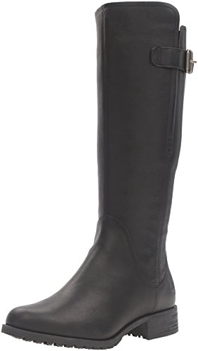 Timberland Women's Banfield Tall Medium Shaft Waterproof Riding Boot, Jet Black Forty, 7 M US