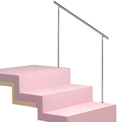 手すりステンレス鋼階段手すり、屋内および屋外階段用の安全手すり 、廊下階段手すり 、高さ:85cm-長さ:100cm-色:シルバー