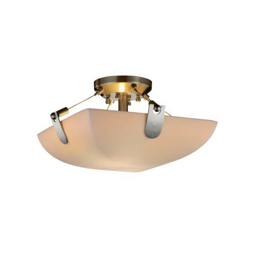 Design Justice Clips Group (Justice Design Group Lighting PNA-9610-25-SMTH-NCKL-LED2-2000 Porcelina-U-Clips 16