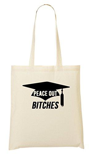 ShutUp Peace Out Bitches Funny Graduation Bolso De Mano Bolsa De La Compra