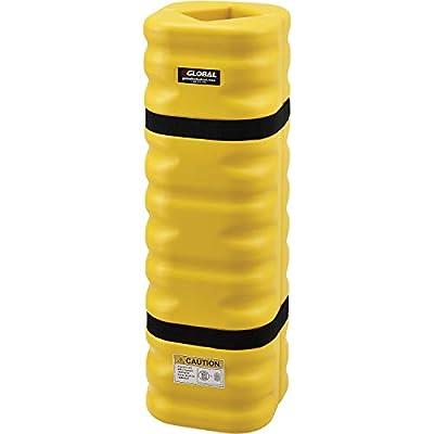 "42""H x 13""W Narrow Column Protectors, 4-6"" Column Opening, Yellow"