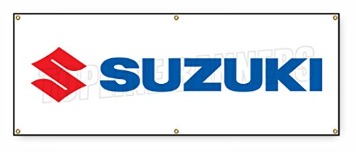 1.5 ft x 4 ft SUZUKI BANNER SIGN dealership cars trucks automobiles sale