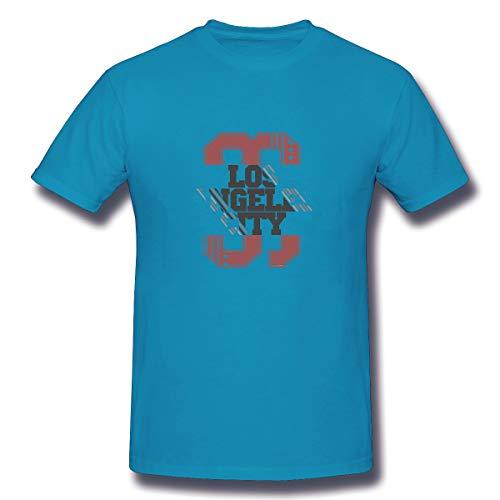 YILINGER Mens Cotton T-Shirt Los Angeles Athletics Los Angeles Athletics Typography stam]()