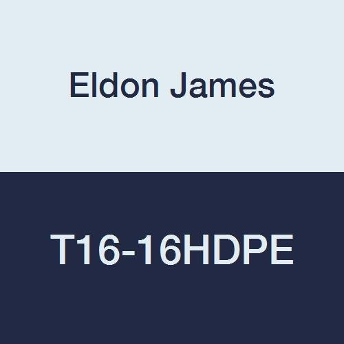1-11 1//2 NPT Thread to 1 Hose Barb Eldon James T16-16HDPE High Density Polyethylene Threaded Miniature Tee Pack of 10