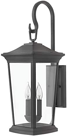 Hinkley 2366MB Bromley Wall Mount Lantern, Extra Large, with Museum Black Finish