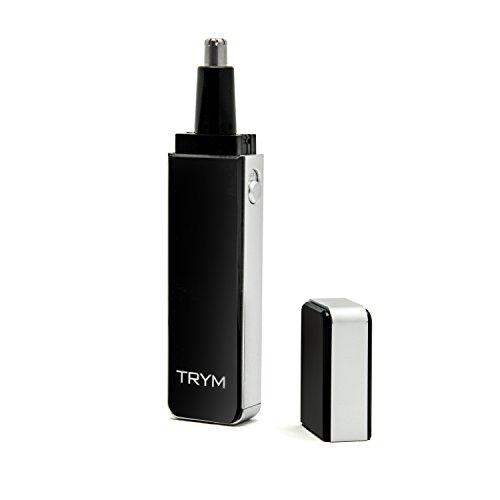 Recortador de cabello de nariz TRYM de enriquecimiento puro con luz LED de aseo para recortes de precisión: diseño elegante y premium ideal para recortar la nariz, las orejas y las cejas