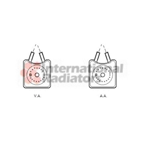 Olio motore VAN WEZEL 58003215 Radiatore olio