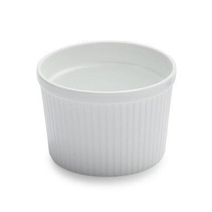 Sur La Table Porcelain Round Souffle Dish with Ribbed Sides HB4619 , 2 qt. (Porcelain Dish Souffle)