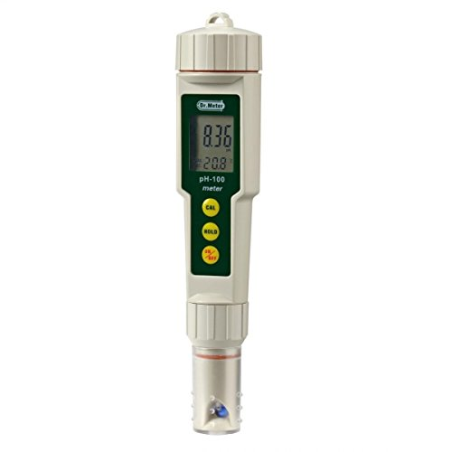 Dr. meter pH100 0.01 Resolution High Accuracy Pocket Size pH Meter with...
