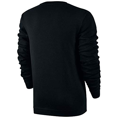 Nike Club Fleece Crew Neck Men's T-Shirt Black/White 804340-010 (Size XS) by Nike (Image #1)