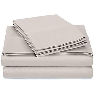 AmazonBasics 400 Thread Count Sheet Set, King, Stone Grey