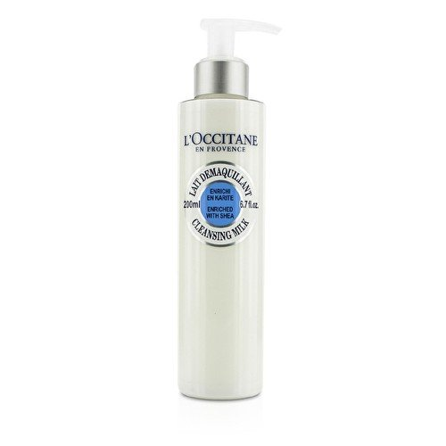 L'Occitane Face Cleansing Milk Enriched with Shea to Remove Impurities or Make-up, 6.7 fl. oz.