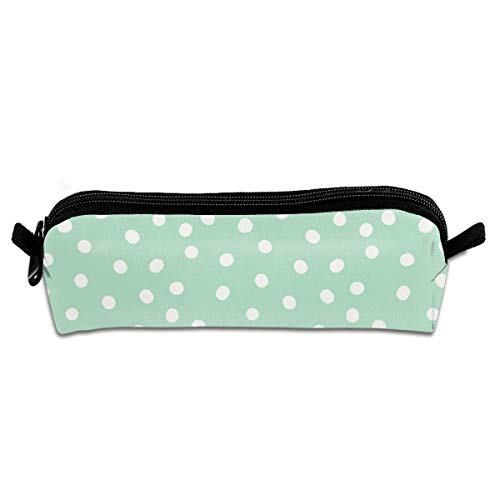 shang mao Dots On Mint Pencil Case Stationery Pouch Bag Coin Purse Multipurpose Travel Pouch Cosmetic Bag Organizer for Pen with Zipper (Coin Dot Pitcher)