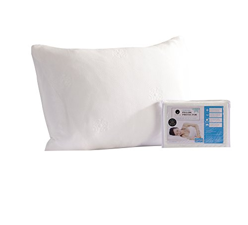Cooling Pillow Protectors. Breathable for Night Sweats. Durable, Machine-Washable, and Zippered. (Queen) (Best Pillow For Night Sweats)