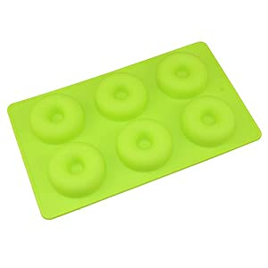 Edtoy Silicone Donut Baking Pan Non-Stick Donut Mold Dishwasher, Oven, Microwave, Freezer Safe