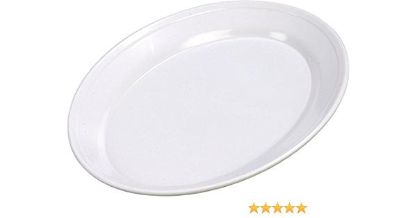 Amazon Com Carlisle Arr12002 Melamine Oval Platter 12 Length X 8 1 2 Width X 1 07 Height White Case Of 12 Industrial Scientific