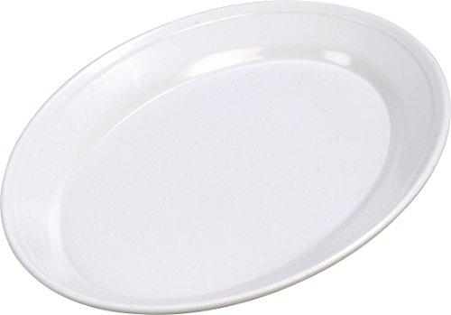 Carlisle ARR12002 Melamine Oval Platter, 12 x 8.5 x 1.07'', White (Case of 12) by Carlisle